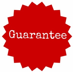 small guarantee button